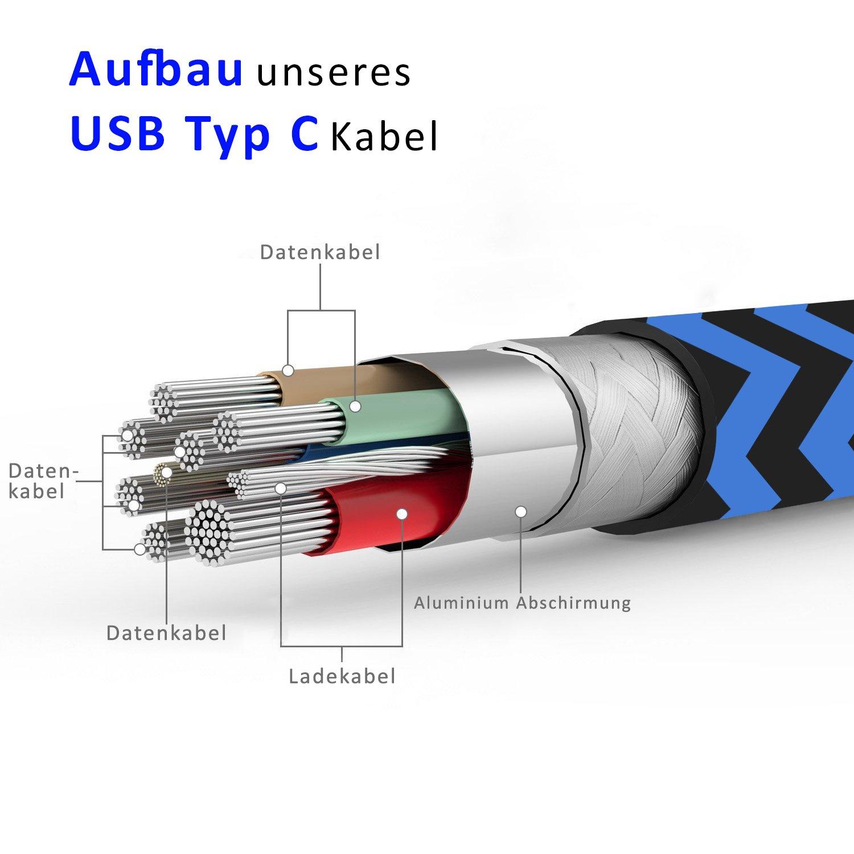 1 x Huawei P10 / P10 Plus Datenkabel / Ladekabel: Amazon.de ...