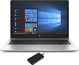"""HP EliteBook 850 G6 Laptop (Intel i7-8565U 4-Core, 16GB RAM, 512GB m.2 SATA SSD, Intel UHD 620, 15.6"""" Full HD (1920x1080), Fingerprint, WiFi, Bluetooth, Webcam, 2xUSB 3.1, Win 10 Pro) with USB3.0 Hub"""