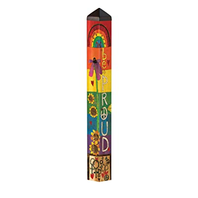 Studio M Be Proud Art Pole Outdoor Decorative Garden Post, Made in USA, 40 Inches Tall : Garden & Outdoor