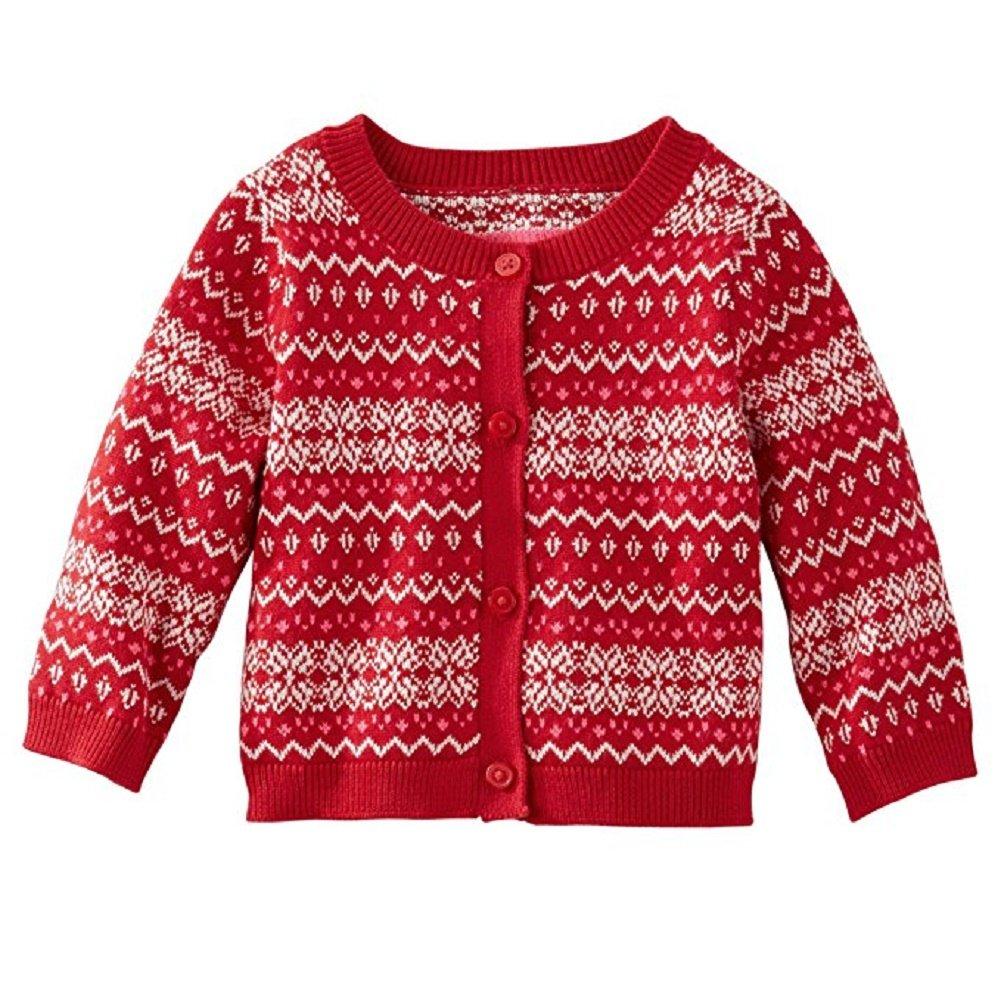 7fc956140 Amazon.com  OshKosh B Gosh Baby Girls  Fair Isle Cardigan (Newborn ...