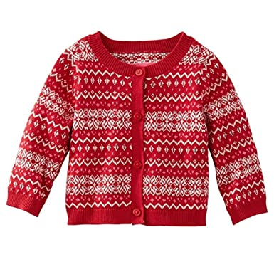 Amazon.com: OshKosh B'Gosh Baby Girls' Fair Isle Cardigan (Newborn ...
