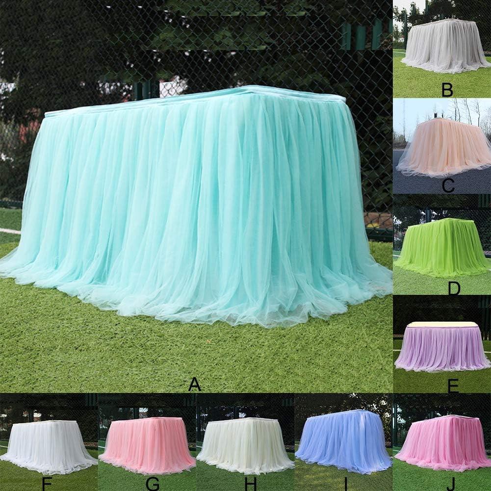 40 x 30 Pouces 100 x 75 cm Dkhsy Tulle Vert Jupe de Table pour Rectangle Table Ronde Tutu Jupe de Table Nappe pour F/ête De Mariage F/ête danniversaire