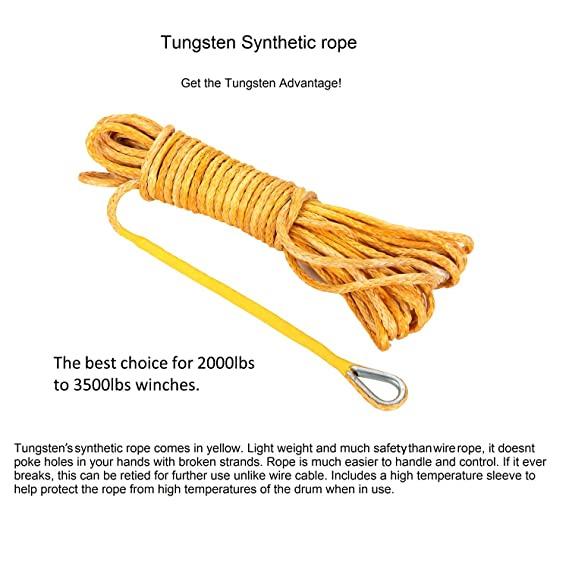 Amazon.com: Tungsten4x4 Synthetic Winch Rope Line Cable for Truck ...