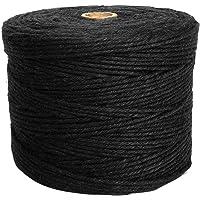 ANSIO Jute touw, 1000 voet Tuintouw 3 ply 2 mm Dik, Perfect voor decoratie Tuin Bloemenkunde DIY Arts bundelen ambachten…