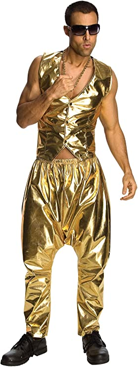 80s Costumes, Outfit Ideas- Girls and Guys Rubies Mens MC Hammer Gold Costume Pants $13.93 AT vintagedancer.com