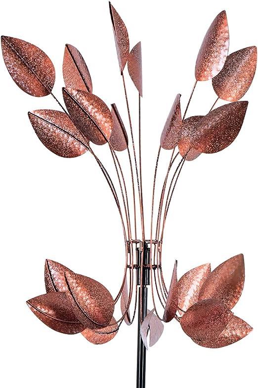 hourflik Kinetic molinillos de Viento con estaca de Metal Estable para jardín con Pintura Reflectante, Adorno de césped único Molino de Viento para decoración de jardín al Aire Libre: Amazon.es: Jardín