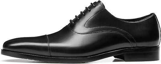 KERVINJESSIE Mens Leather Shoes Mens Low to Help Black Tie Business Shoes Color : Brown, Size : 42