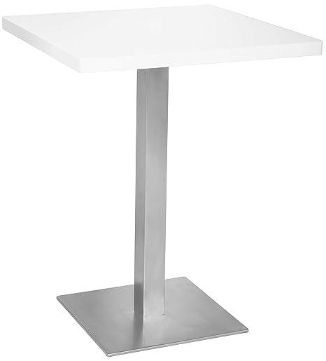 Tavolo Alto Bianco.Sixbros Tavolo Da Bar Tavolo Alto Bianco 60x60x75 M Bt60 1855