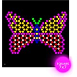 IllumiPeg Little Miss Refill templates for Lite Brite Cube, Flat-Screen, and Four Share (10 Sheets, 7x7)
