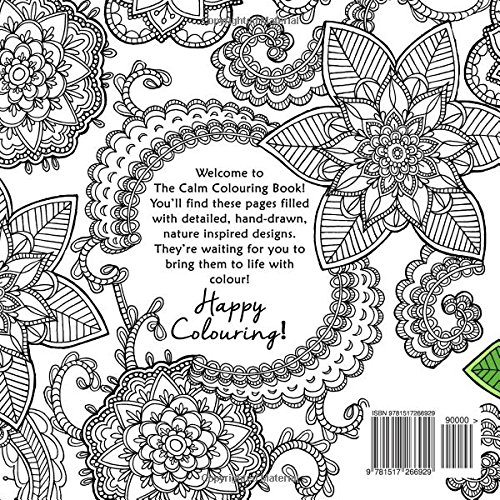 The Calm Colouring Book Creative Art Therapy For Adults Volume 2