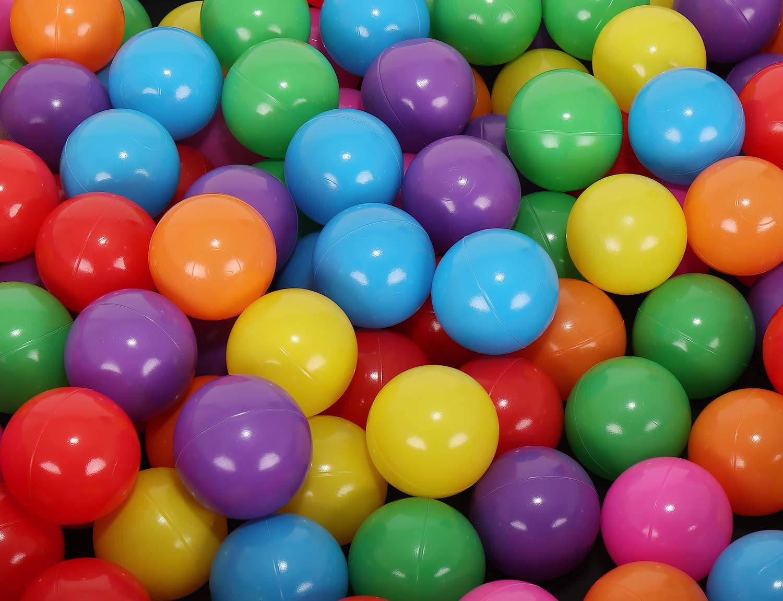 MT MALATEC Kinder B/älle f/ür B/ällebad /Ø5cm Plastikb/älle Spielb/älle f/ür Kinder Ballpool 100//200//500//1000 St/ück DREI Farben 9268 Farbe:Bunt Menge:100