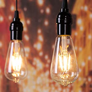 Brightown LED Light Bulbs 6 Packs, 60 Watt Equivalent, Dimmable Edison Light Bulb 6W E26 Base Vintage Led Bulbs, Clear Bulbs Warm White Light