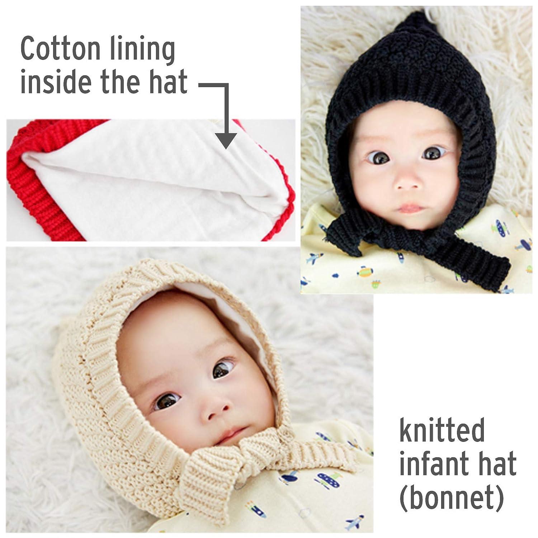 606534ec9 Amazon.com: Happy Tree Baby Hat Bonnet Warm Knit Infant Toddler ...