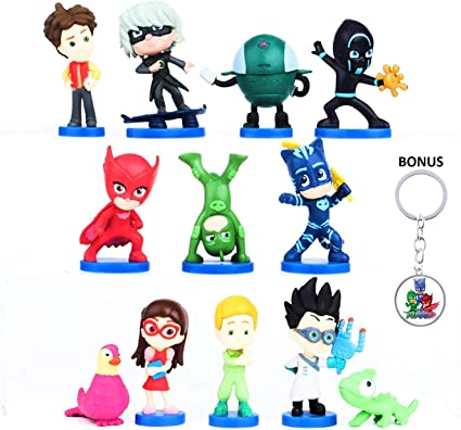 Amazon.com: Juego de figuras de PJ Masks – 12 piezas ...