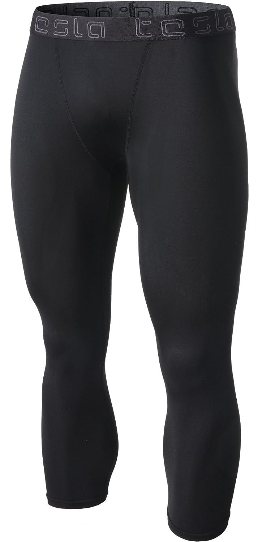 Tesla Men's Compression 3/4 Capri Shorts Baselayer Cool Dry Sports Tights MUC18/MUC08/P15 Tesla Gears