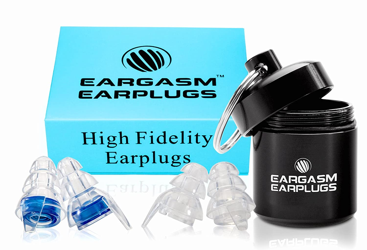 Eargasm High Fidelity Earplugs for Concerts Musicians Motorcycles and More! by Eargasm   B019M576XW
