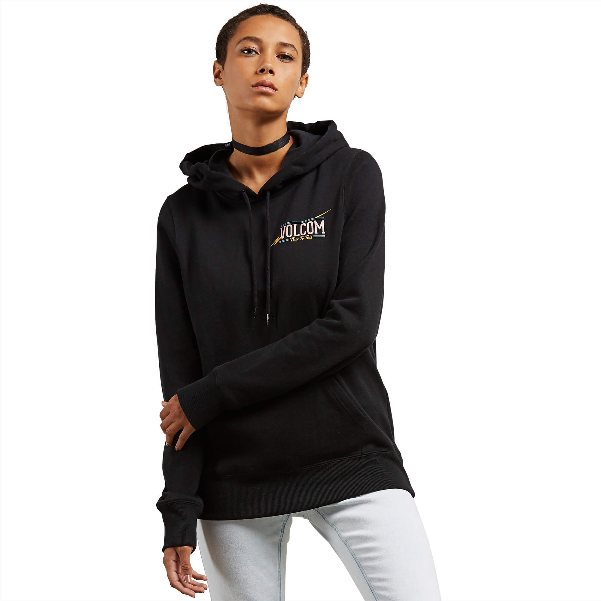 Volcom Junior's Vol Stone Pullover Hoody, Black, XS