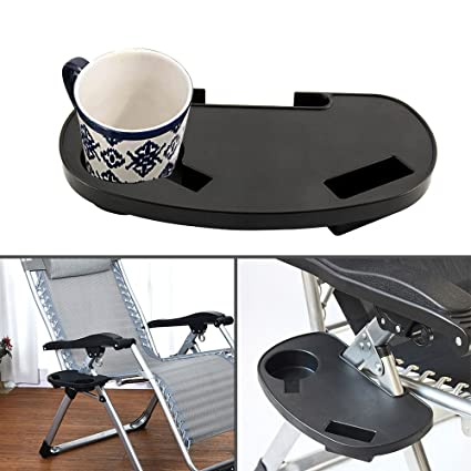 Amazon.com: Portavasos para silla de pesca, bandeja con clip ...