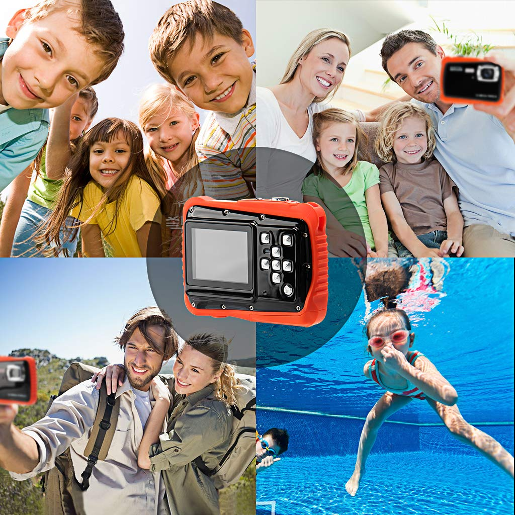 Veeca Waterproof Kids Digital Camera 12MP HD Photo Resolution Underwater Camcorder with 8X Digital Zoom Flash Mic and 8G SD Card 3 Non-Rechargeable Batteries Included by Veeca (Image #5)