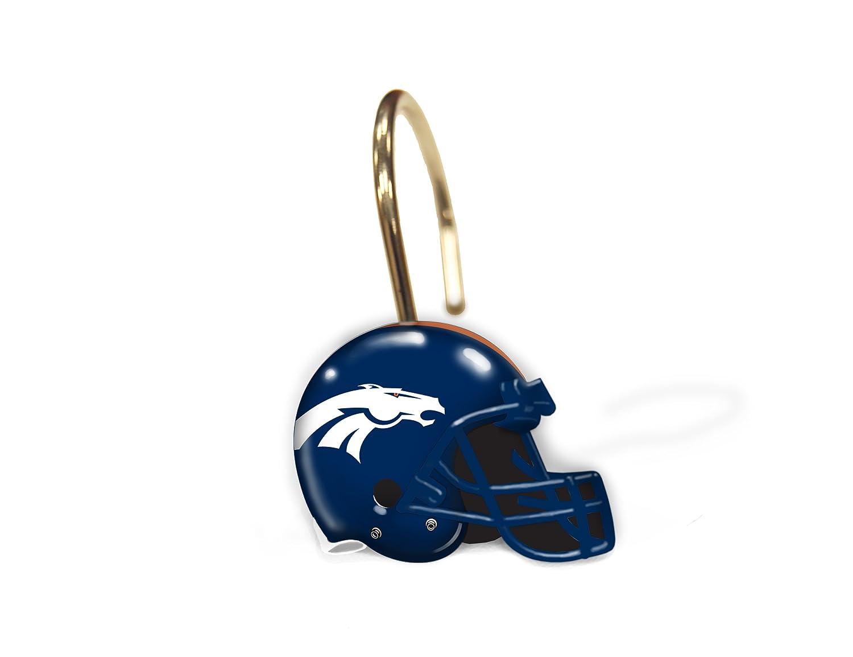 NFL Denver Broncos Set of 12 Shower Curtain Rings