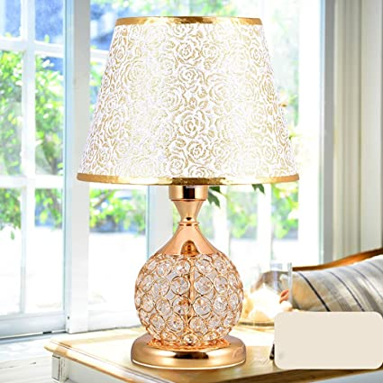 . CJH Rose Gold Table Lamps Bedroom Bedside European Creative Simple