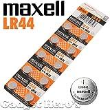 Maxell LR44 Battery 10 pieces, 1.5V Micro Alkaline Button Coin Cell