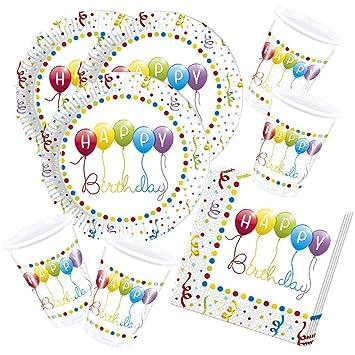 52 Piezas Juego De Partido Happy Birthday Banderolas Motivo