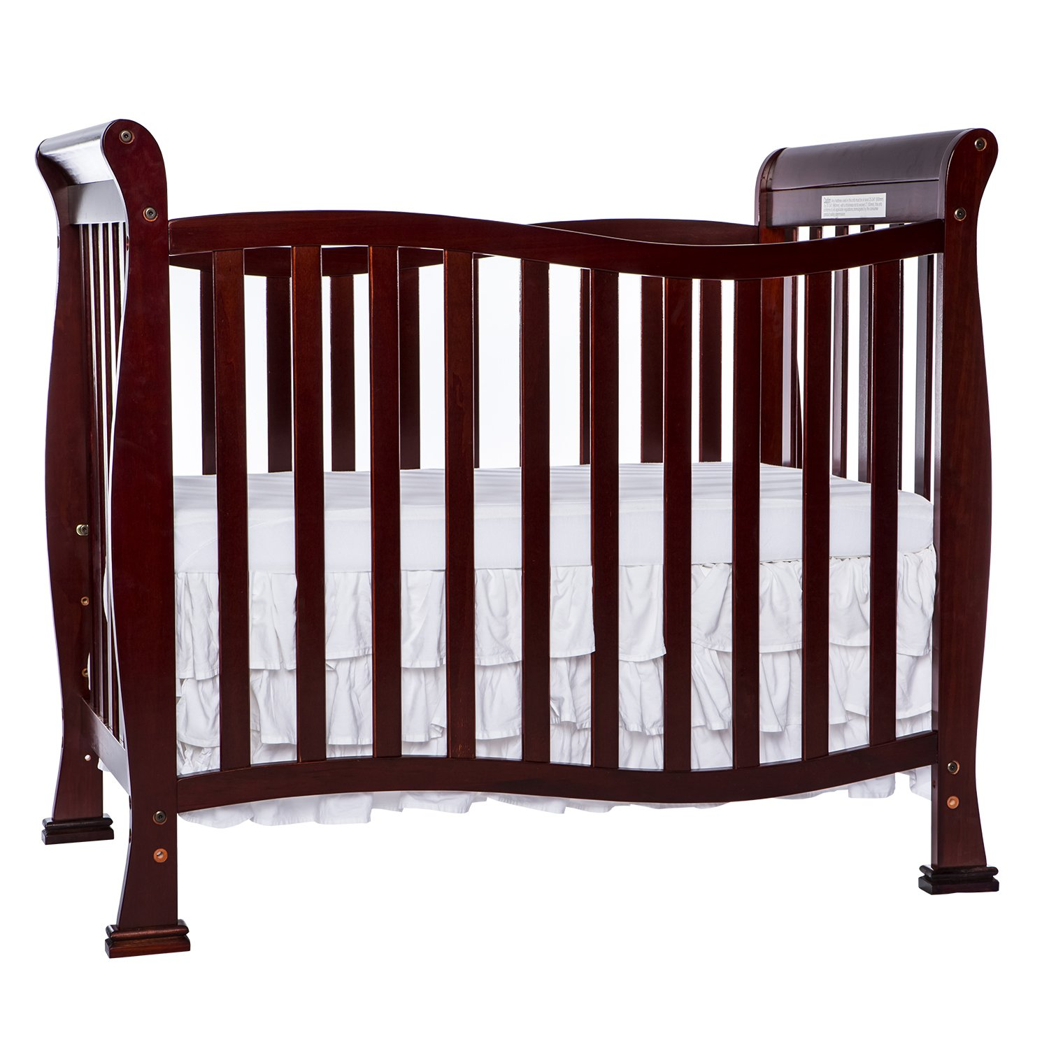 Dream On Me Violet 4 in 1 Convertible Mini Crib, Cherry