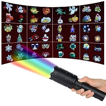 Ciojio Navidad LED Proyector Flash De Pilas Luz del Partido con 12 ...