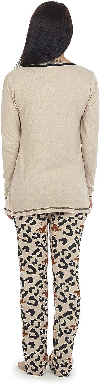 Pigiama Adulti Il Re Leone Disney Set Pigiama con Stampa Il Re Leone Pigiami Due Pezzi Donna con Maglietta Super Morbida a Manica Lunga e Pantaloni Joggers
