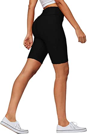 Conceited Textured High Waisted Workout Yoga Leggings for Women - 15 Colors