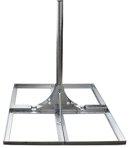 Satix QSF40100 mast base stand ground patio mount 10° tilt heavy