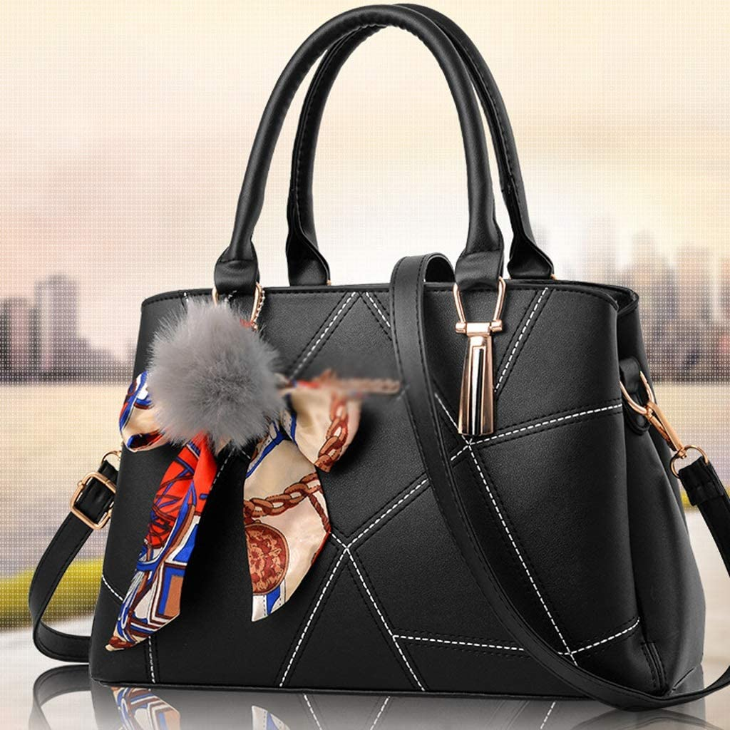 N/A NA Leather Tote Impermeabile Multi-Pocket Tracolla Work Bag Wallet e delle Donne della Borsa (Color : E) D