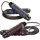 24sale Skipping Jump Rope Tangle-Free Ball Bearing Adjustable Lightweight Jumping Rope with Antiskid Memory Foam Handles…