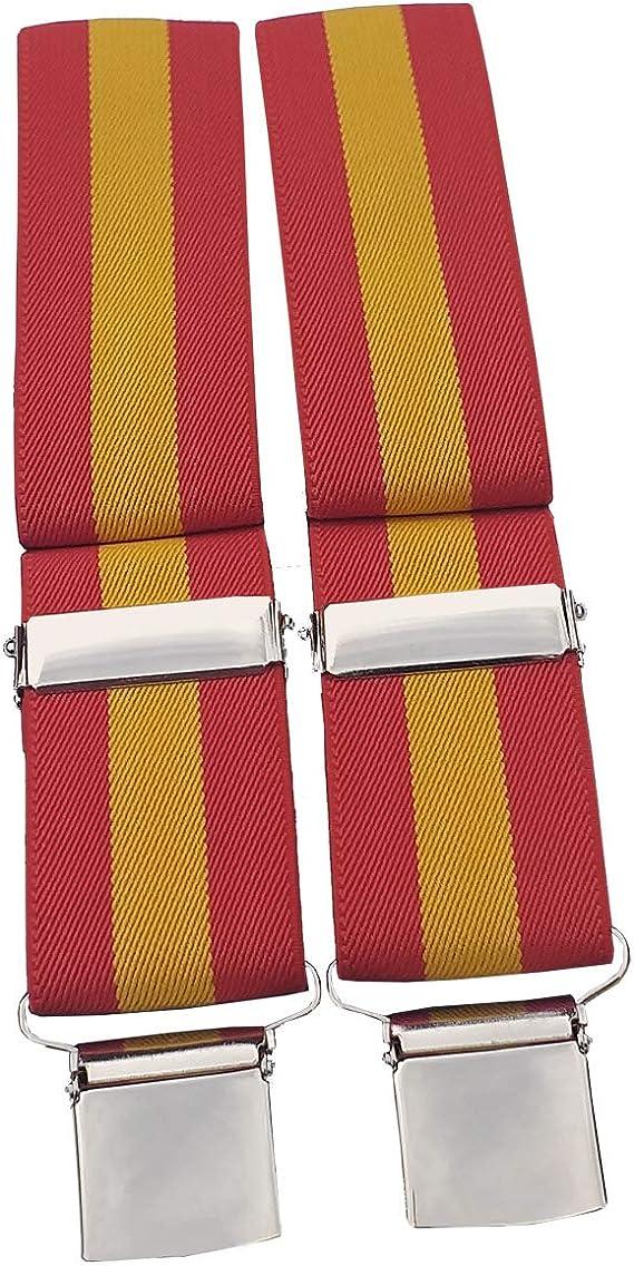 Tiendas LGP – Agustin Corpas, Tirantes Bandera de España, Rojo y Gualda, Elasticos: Amazon.es: Ropa y accesorios