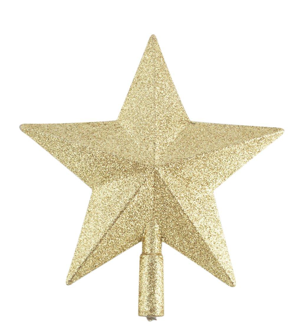 Chytaii Estrella para Árbol de Navidad Estrella Dorada Decoración Adorno del Árbol de Navidad Decoración Colgante Fiesta de Navidad 15cm: Amazon.es: Hogar