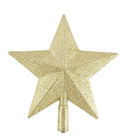 Chytaii Estrella para Árbol de Navidad Estrella Dorada Decoración Adorno del Árbol de Navidad Decoración Colgante