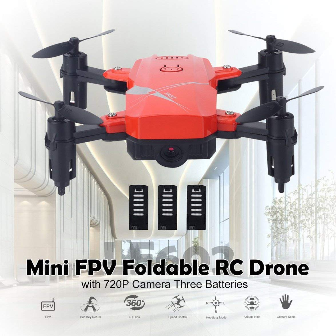 Kongqiabona LF602 2.4G Mini FPV Foldable RC Quadcopter Drone ...