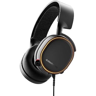 SteelSeries Arctis 5 Auriculares De Juego, Iluminados por RGB, DTS Headphone:X V2.0 Surround para Pc Y Playstation 4, Negro