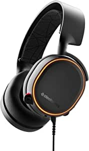 SteelSeries Arctis 5 (2019 Edition) RGB Illuminated Gaming Headset with DTS Headphone: X 7.1 Surround for PC, PlayStation 4, VR, Android and iOS, USB or 4-Pole 3.5mm - Black | 61504 (PS4)