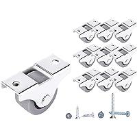 (Pack van 10) 25 mm kleine wielen rubberen wielen wielen wielen voor meubels niet-draaibare kleine wielen, niet…