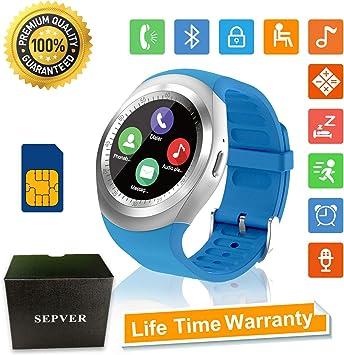 Reloj Inteligente Smartwatch Redondo con Podómetro de Pantalla ...