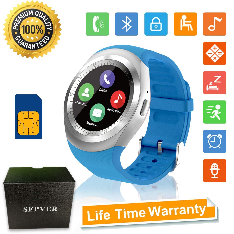 Reloj Inteligente Smartwatch Redondo con Podómetro de Pantalla Táctil con Ranura para Tarjeta SIM para Samsung LG HTC Sony xiaomi Google Huawei teléfono ...