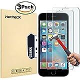 [3-Pack] iPhone 6 6S Pellicola Protettiva, MaxTeck Pellicola Vetro Temperato iPhone 6 6S Screen Protector Film Ultra Resistente (0.26mm HD Alta Trasparenza) per iPhone 6 6S
