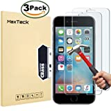 """[3 Pack] iPhone 6 Plus / 6S Plus Screen Protector, MaxTeck 0.26mm 9H Tempered Glass Screen Protector Anti-Shatter Film for iPhone 6 6S Plus 5.5"""" inch [3D Touch Compatible]"""
