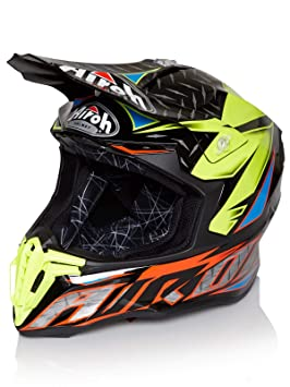 Airoh - Casco para moto Twist Iron - Color naranja - Talla S
