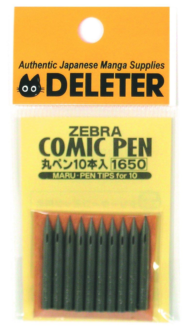 Zebra Managa Pen Nib Maru - 10pc by DELETER INC.