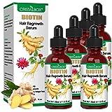 5 PACK Hair Growth Serum,2021 Biotin Hair Growth Oil,Hair Growth Ginger Serum for Men and Women,Hair Growth Treatment,Ginger