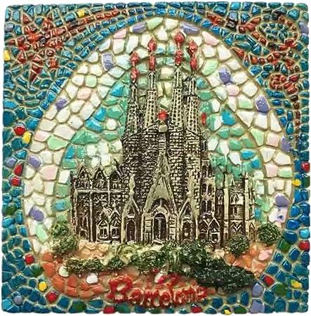 Weekinglo Souvenir Imán de Nevera Sagrada Familia Barcelona España 3D Resina Artesanía Hecha A Mano Turista Viaje Ciudad Recuerdo Colección Carta Refrigerador Etiqueta: Amazon.es: Hogar