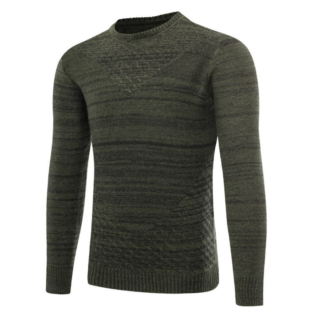 fb557728a560a4 DANNI 2019 Autumn Winter Men s Youth Popular Long-Sleeved Pullover Men s  Round Neck Casual Knit Sweater Fashion Pullover at Amazon Men s Clothing  store